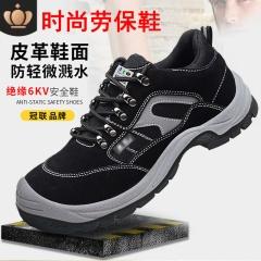 大码注塑实心聚氨酯底防静电鞋劳保鞋防砸防穿刺安全鞋绝缘鞋