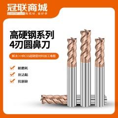 高硬钢系列4刃圆鼻刀 D6 R0.5 10 d4 50