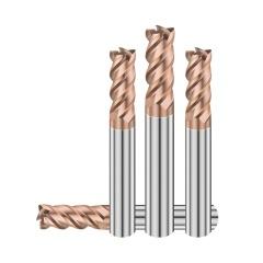冠联 硬质合金立铣刀/高硬钢系列4刃圆鼻刀 65HR-D10*R0.3*25*d10*75*4F-@F 5支  单位:支